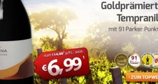 Goldprämierter Tempranillo bei Weinvorteil