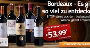 Bordeaux Weinpaket bei Weinvorteil